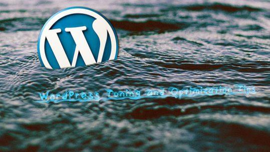 WordPress Tuning and Optimization Tips