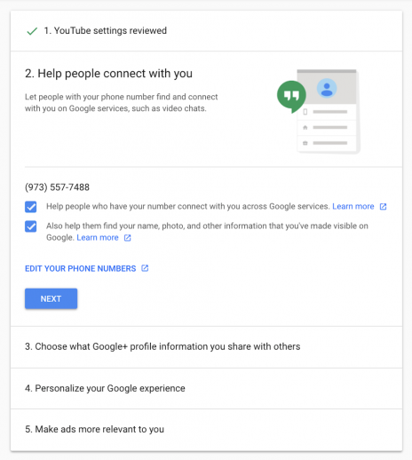 Manage Privacy Settings on Google